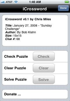 icrossword native iphone crossword app