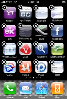 iPhone firmware 1.1.3, jiggly icons