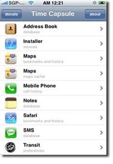 TimeCapsule iPhone backup app
