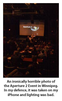 The Aperture 2 World Event at the Park Theatre, Winnipeg, Canada