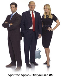 Apple Computers made many cameo appearances on TV\'s \'The Apprentice\'
