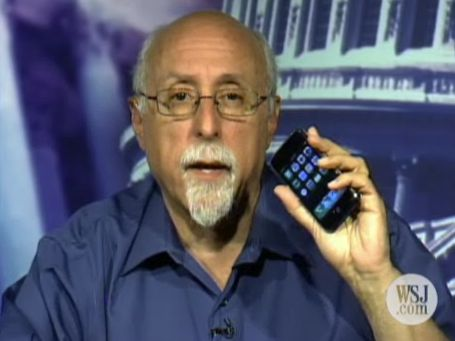Walt Mossberg with iPhone