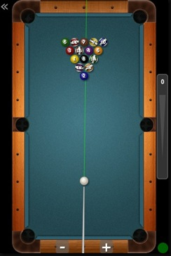 iPhone Pool game