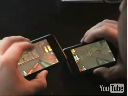 Quake on an iPod Touch demo
