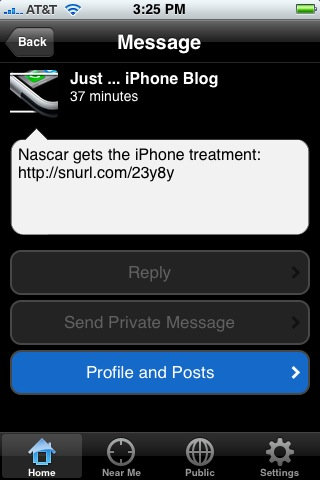iPhone native Twitter app