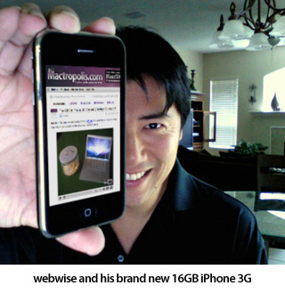 Grand Prize winner webwise and his 16GB iPhone 3G