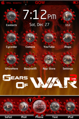 Featured iPhone Theme: Gears of War 2 | iSource
