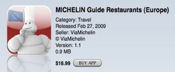 Michelin Guides on iPhone