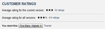 App Store ratings