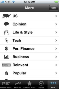 WSJ on iPhone
