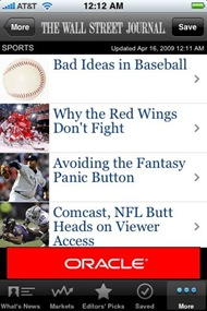 Wall Street Journal on iPhone