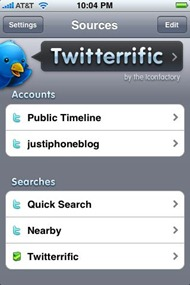 Twitterrific for iPhone V 2.0