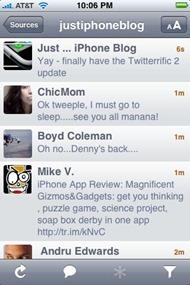 Twitterrific on iPhone
