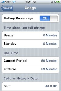 show battery percentage on iPhone 3GS
