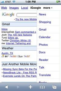 iGoogle on iPhone