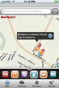 Mapquest 4 Mobile on iPhone