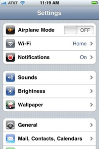 iPhone OS 3.0 Notifications settings