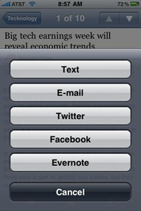 iPhone 3rd party apps integration