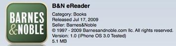 B&N eReader app for iPhone