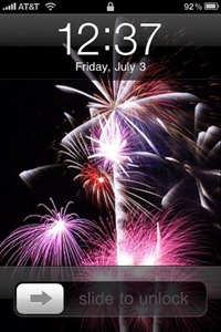 Fireworks wallpaper for iPhone