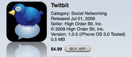 Twitbit iPhone app