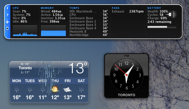 mac dashboard