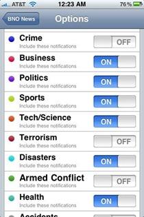 BNO News iPhone app