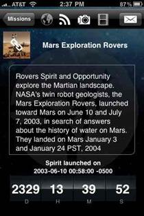 NASA app on iPhone