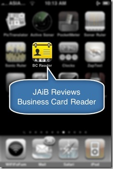 Review Business Card Reader for iPhone iPod Touch