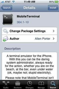 MobileTerminal iPhone app