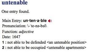 untenable