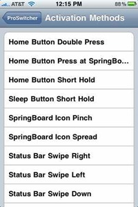 ProSwitcher iPhone jailbreak app switcher