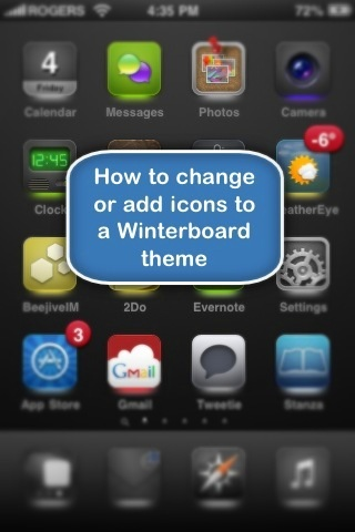 how to change winterboard icons