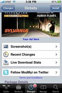 Cydia apps page