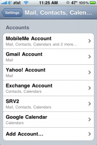 List of mail accounts, notice 2 Exchange accounts