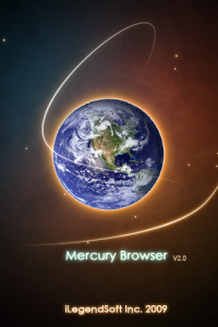 Mercury Browser splash