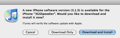 iPhone OS 3.1.3 update