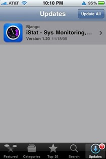 iPhone app update