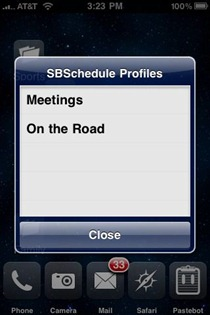 SBSchedule iPhone jailbreak app