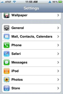 Store Settings for iPhone