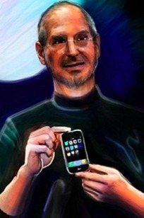 Steve Jobs portrait done on iPhone