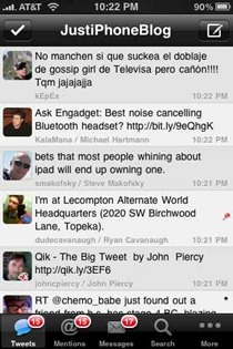 Tweetings iPhone Twitter app