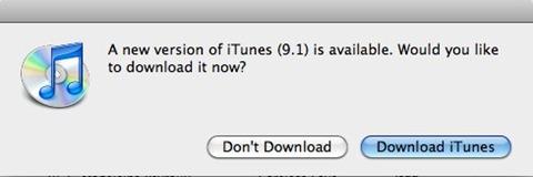 iTunes 9.1 update