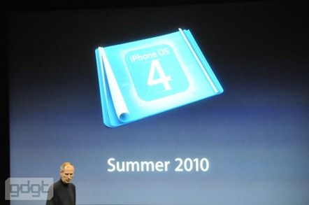 iPhone OS 4 launch Summer 2010