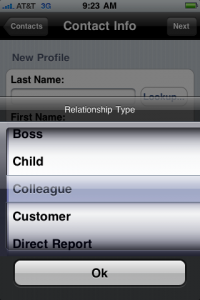 Social Styles iPhone relationship type