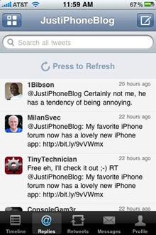 Seesmic iPhone app
