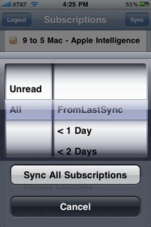 Feeddler for iPhone