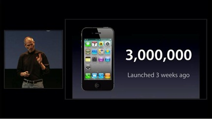 3 million iPhone 4 sold
