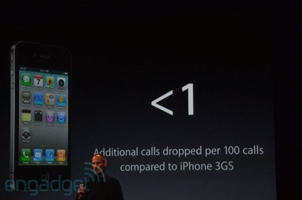 iPhone 4 more calls dropped than 3GS