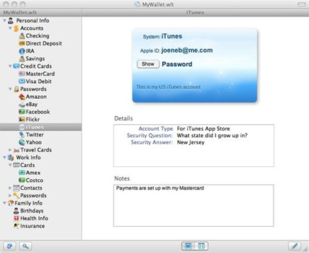 eWallet Mac version